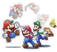 Mario & Luigi Paper Jam Bros. Key Artwork