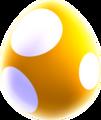 Yellow baby yoshi egg
