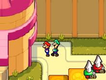 Giardino del Castello di Peach Screenshot - Mario & Luigi Viaggio al Centro di Bowser.png