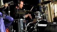 Mark Sheppard playing the drums