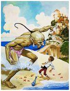 Boy and a Genie - Line Art America