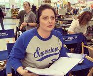 Lauren Ash-writer on set-2018