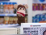Glenn's monkey puppet
