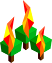 Burn forest