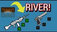 【Surviv io】 M249 and DEagle in river crate!?!?