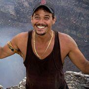 Rob near a volcano