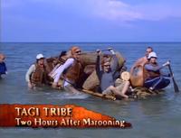Tagi arrives at beach
