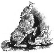 Счастливчик и Солнышко тоскуют по Альфи. Иллюстрация из Тайный Враг