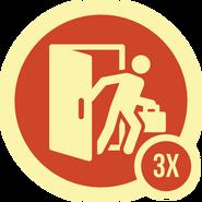 Badge barrado 3x