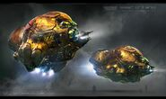 Guardians-of-the-Galaxy-Vol-2-Concept-Art-George-Hull-Laser-Drill-Ship-02