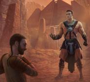Caspian Zavarai choking a Jedi