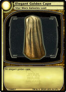 Elegant Golden Cape (card)
