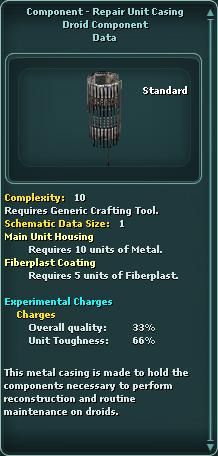 Component - Repair Unit Casing