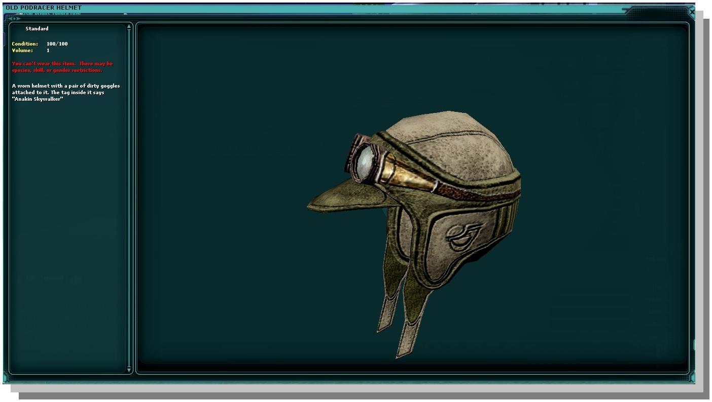 Old Podracer Helmet