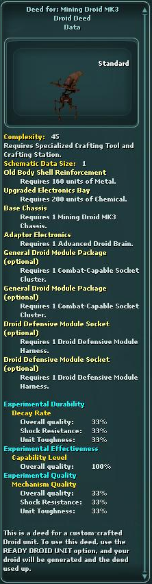 Deed for: Mining Droid MK3