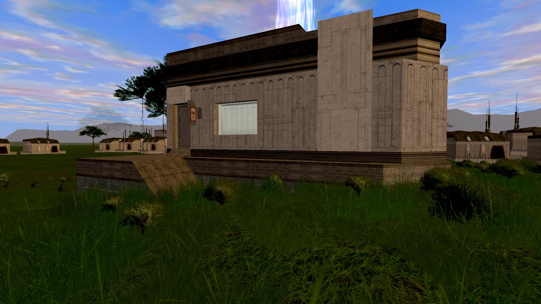 Medium Windowed Generic Planet House Style 2