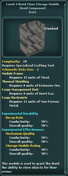 Module - Droid Item Storage 4