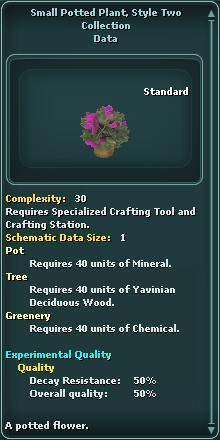 Small Potted Plant, Style Two