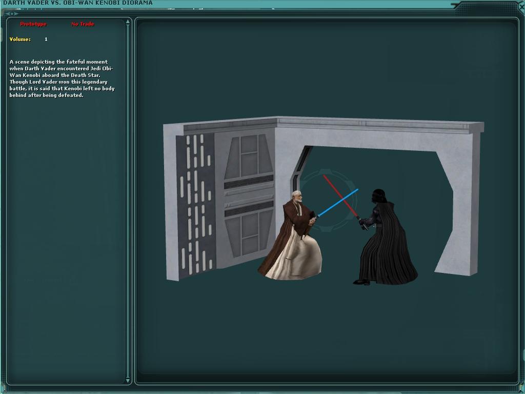 Darth Vader vs. Obi-Wan Kenobi Diorama