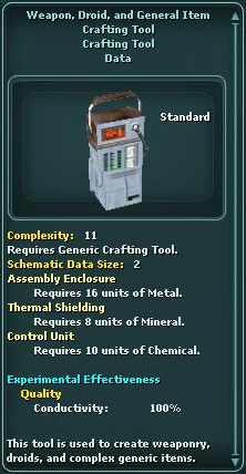 Weapon, Droid, and General Item Crafting Tool
