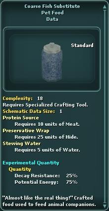 Coarse Fish Substitute
