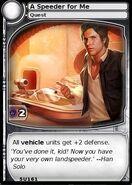 A Speeder for Me (card)