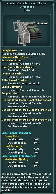Combat-Capable Socket Cluster