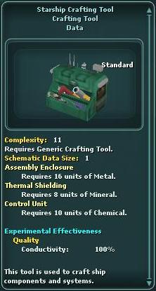 Starship Crafting Tool
