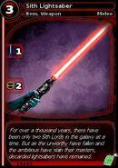 Sith Lightsaber (card)