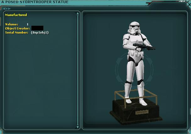 A Posed Stormtrooper Statue
