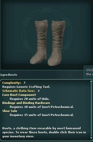 Hide Boots (Schematic)
