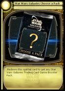 Star Wars Galaxies Choose a Pack (card)