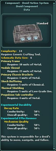 Component - Droid Motive System