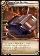 Unmarked Speeder (card)