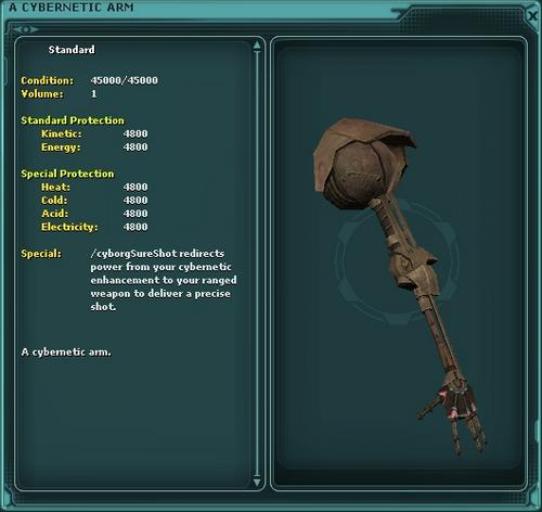 A Cybernetic Arm (sure shot)
