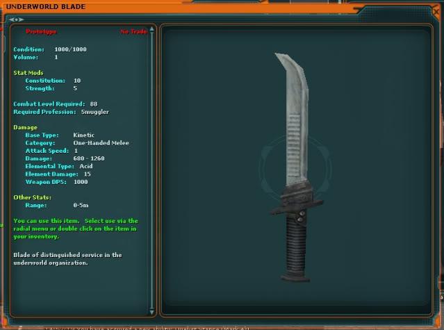 Master Underworld Smuggler Blade