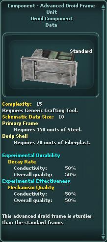Component - Advanced Droid Frame Unit