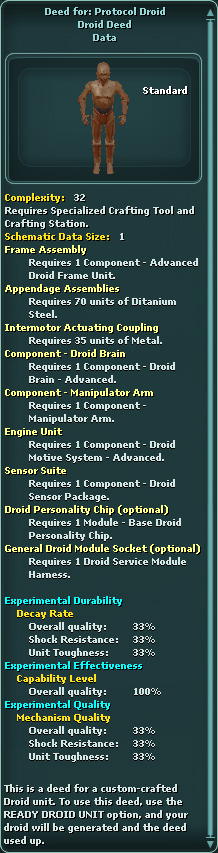 Deed for: Protocol Droid