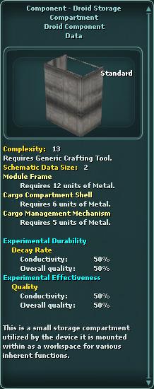 Component - Droid Storage Compartment