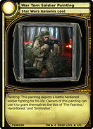 War Torn Soldier Painting (card)
