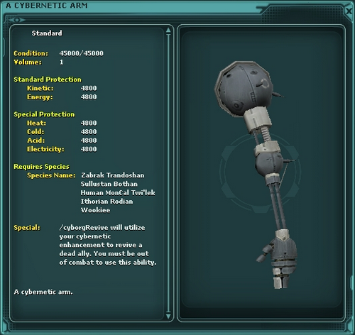 A Cybernetic Arm (revive)