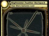 Nightsister Feather Backpack