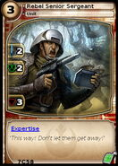 Rebel Senior Sergeant (card)