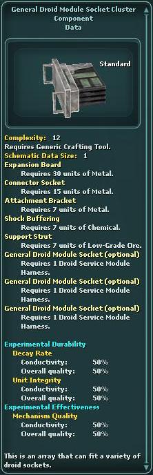 General Droid Module Socket Cluster