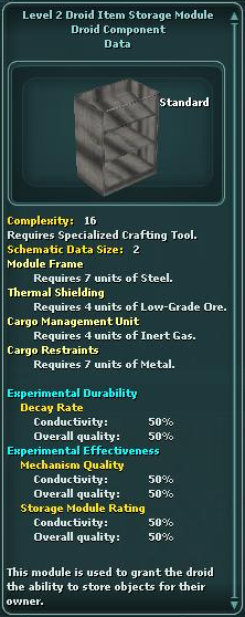 Module - Droid Item Storage 2