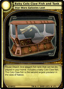 Baby Colo Claw Fish and Tank (card)