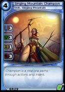 Singing Mountain Champion (card)