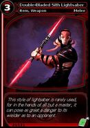 Double-Bladed Sith Lightsaber (card)