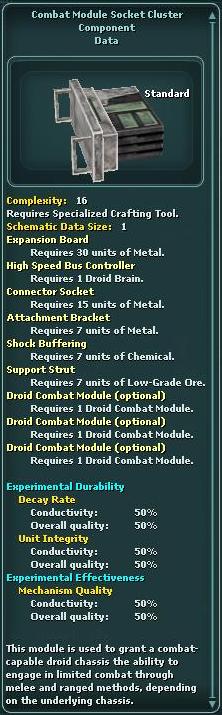 Combat Module Socket Cluster