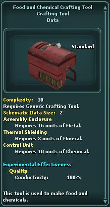 Food and Chemical Crafting Tool